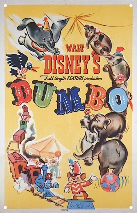 Dumbo - A3 Metal Wall Sign